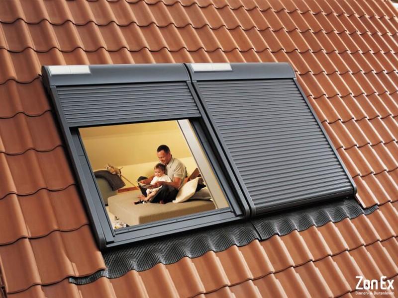 Dakraam rolluik met zonnecel ZonEx Enschede