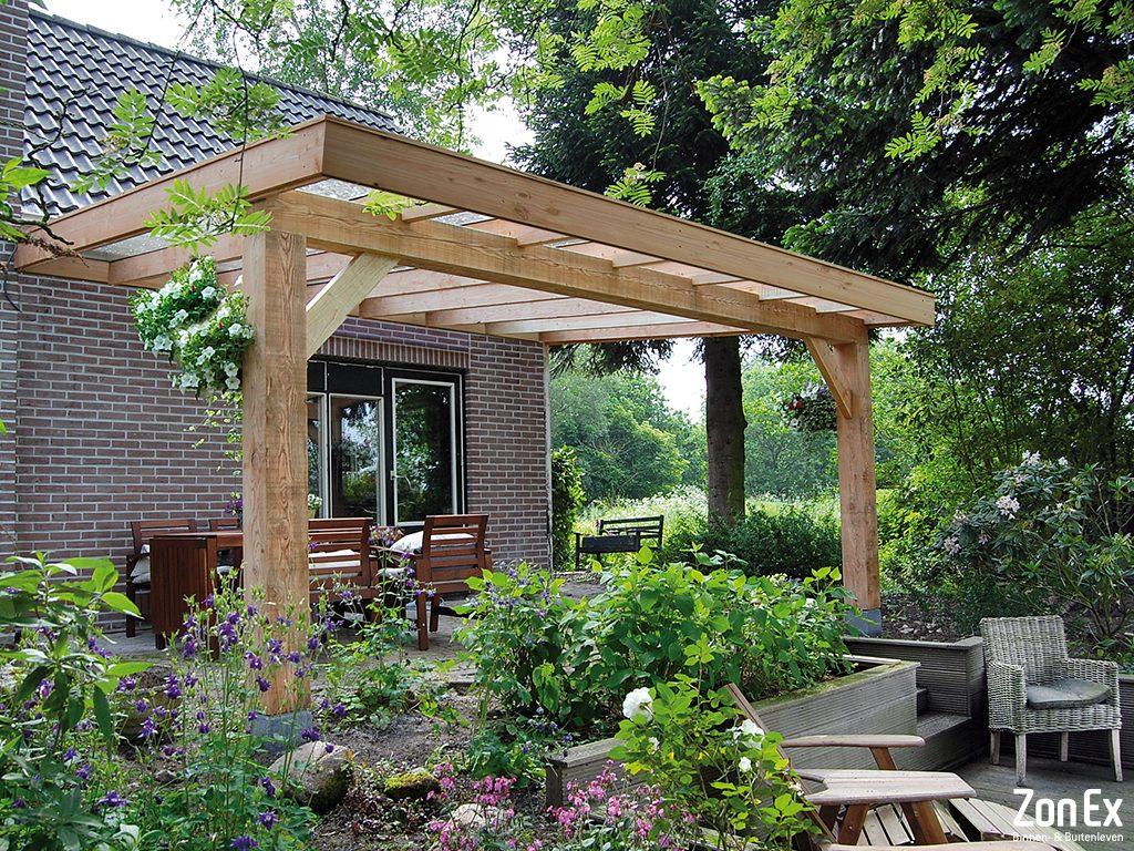 houten terrasoverkapping veranda