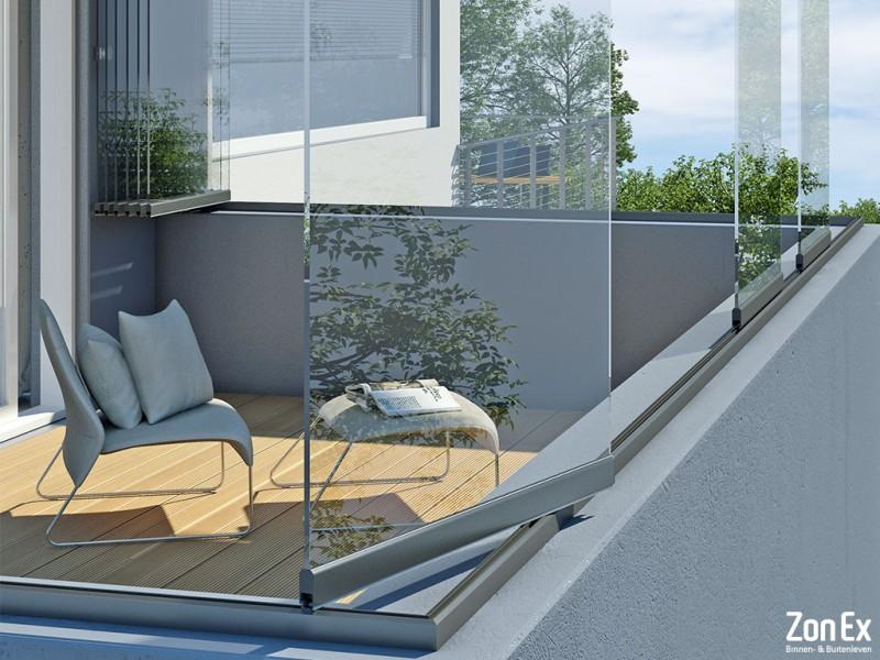 Glazen draaiwanden voor uw overkapping of balkon for Balkon wand