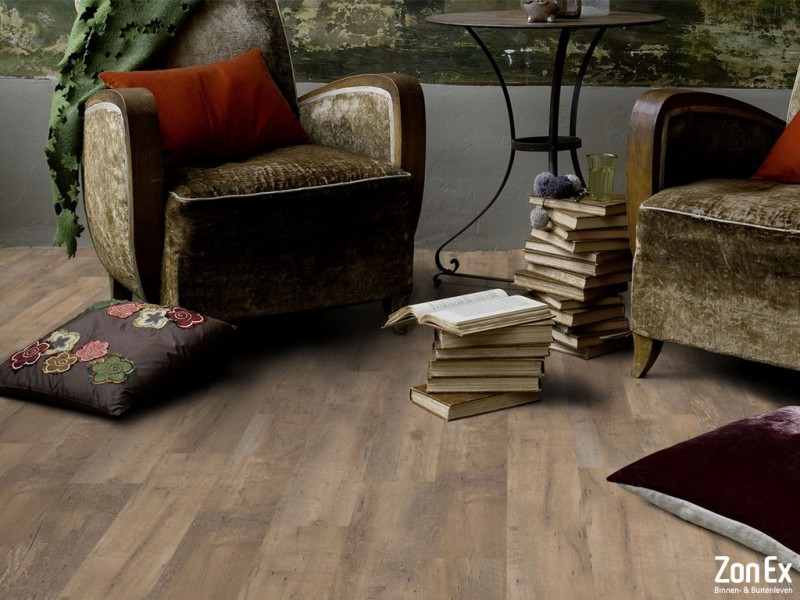 Sterke pvc vloeren van hout tot steen dessin zonex