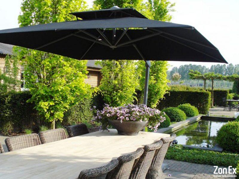 tuin parasols hogere kwaliteit voor een langere levensduur. Black Bedroom Furniture Sets. Home Design Ideas