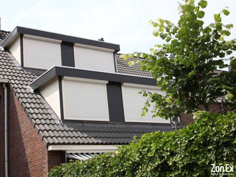 rolluiken opbouw wit ZonEx Enschede