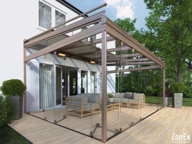 Glazen vouwwand voor uw veranda of balkon?   ZonEx.nl