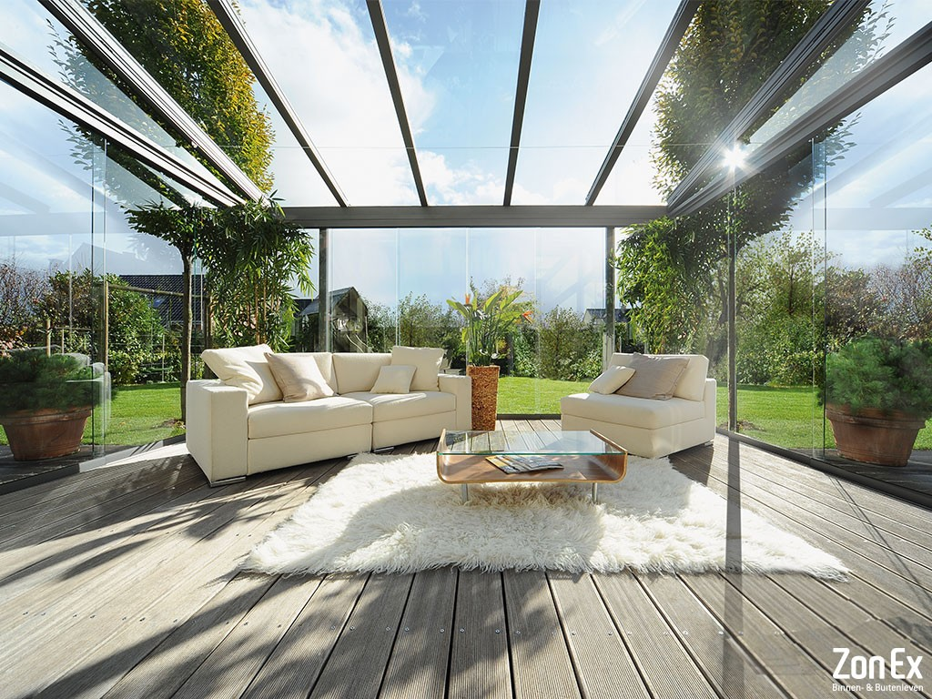 glazen overkapping wintertuin ZonEx Enschede Twente