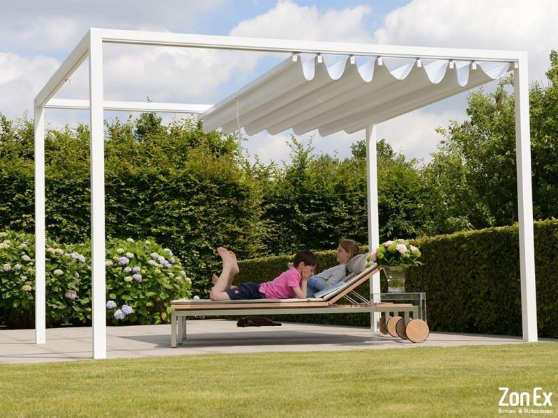 zonex pvc acryl vouwdak pergola terrasoverkapping. Black Bedroom Furniture Sets. Home Design Ideas